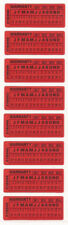 Service Warranty labels Day Month Year SECURITY Tamper evident x 100 stickers