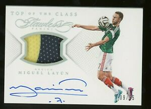 2015-16 Panini Flawless Soccer Top Of The Class Miguel Layun AUTO Patch /25
