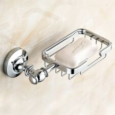 Polished Chrome Soap Dish Holder Soap Basket Wall Mount Bathroom Accessories