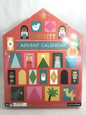 New Sealed Christamas Advent Calendar Nativity Petit Collage Petitcollage 54 pcs