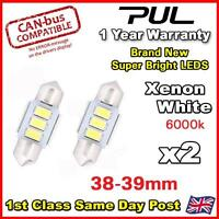 2x White 3 NEW 5630 SMD LED ERROR FREE CANBUS 38/39mm 239 272 C5W NUMBER PLATE