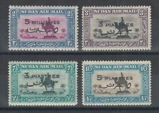 Sudan Sc C31-C34 Mlh. 1938 Air Mail Surcharges, complete set, F-Vf