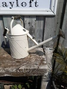 Haws Watering can metal cream wooden handles large