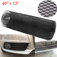 Aluminum Mesh Grill Cover Car Bumper Fender Hood Vent Grille Net Universal Black