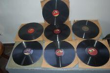 "Gramophone phonographe Lot de 7 disques gramophone "" non testé """