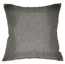 Qh14a Beige Grey Thick Cotton Blend Style Cushion Cover/Pillow Case Custom Size