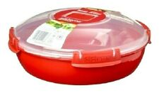 Sistema 1.3L Large Round Dish Plate Casserole Stew Curry Microwavable Lunch Box