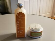 Cru De Provence Green Tea Set- Bath Caviar 6 oz and Cream Bath  17 oz