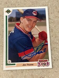 1991 Upper Deck #17F Jim Thome signed rookie card