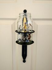Amish forged wrought iron Jar Holder Sconce - w/ hardware - sturdy hand crafted