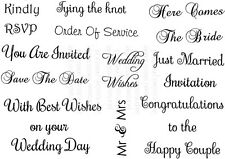 Sweet Dixie Clear Stamp Wedding Messages invitation congratulations cardmaking