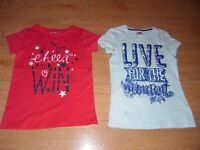 girls pack of 2 t shirts from f and f and nutmeg age 10-11 years