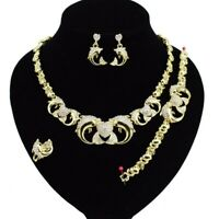 #71 HUGS & KISSES Dolphins Set Necklace bracelet Earrings Ring Gold Filled