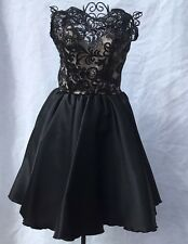 Fernando Wong Short Black Cocktail Pageant  Dress Custom Original fits size 0-2