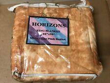 "Horizons King Blanket 108"" x90"" Micro- Fleece Plush Blanket"