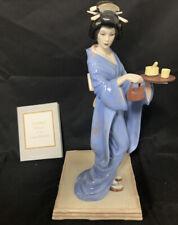 Tamiko, Princess of the Lotus Blossoms by Manabu Saito ~ Fine Porcelain Figurine