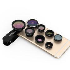 8in1 Fisheye+ Grandangolo+Macro+ Teleconverter+ CPL Obiettivo Lente per iPhone 6