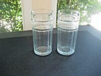 2 Anchor Hocking (Annapolis) Flat Iced Tea Glasses /Tumbler  Ribbed Panels