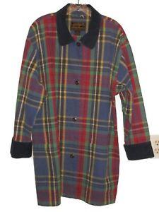 Medium Women's Vintage 1990s Eddie Bauer Barn Coat Jacket PLAID Cotton