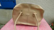 sac à main Tod's vintage cuir beige vintage porté épaule