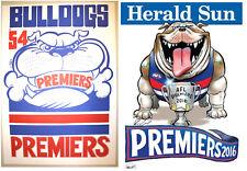 1954 & 2016 FOOTSCRAY Western Bulldogs Weg Knight Posters Premiership Poster