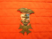ARMY AND NAVY UNION MEDAL WITH ANCHOR DROP AND PLANCHET