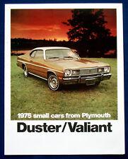Prospekt brochure 1975 Plymouth Duster / Valiant  (USA)