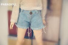 Cool Denim Cutoff Shorts Pant for BJD 1/4 MSD,1/3,SD16 IP EID Doll Clothes CWB75