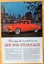 Magazine Print Ad 1950 Studebaker Car  White Side Walls