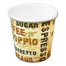 1000 Pappbecher 100ml Barista / Einweg Espresso Coffee to go Becher 0,1l 4oz Eco