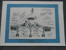 Last Flight of British Airways Concorde Crew Drawing Print Fully Signed Copy