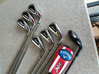 Callaway RAZR Edge iron set, 5-PW, XR 4 hybrid(5.5 graphite),uniflex steel shaft