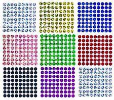 72 Bügelpailletten Hologramm, 7 mm rund, Hotfix Pailletten zum Aufbügeln
