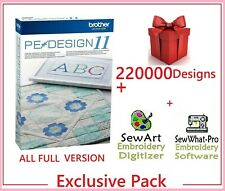 Brother PE Design 11 Software Embroidery ⭐+220 000 Designs⭐ INSTANT DELIVREY⭐