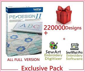 Brother PE Design 11 Software Embroidery ⭐+220 000 Designs⭐ INSTANT DELIVREY⭐