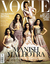VOGUE INDIA 12/2015 Manish Malhotra SRIDEVI Kajol SHANINA SHAIK Karlie Kloss NEW