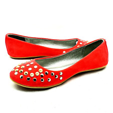Coral Suedette studded flat shoes / Pumps