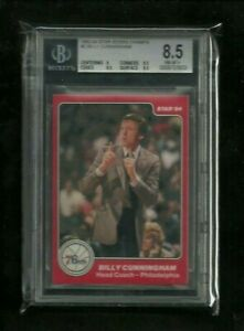 Billy Cunningham 1983-84 Star SIXERS CHAMPS #2 BGS 8.5 NM-MINT! 76'ers Coach
