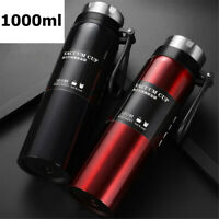 1L Portable Stainless Steel Bottle Vacuum Cold Gifts Cup Insulated Drink Flask