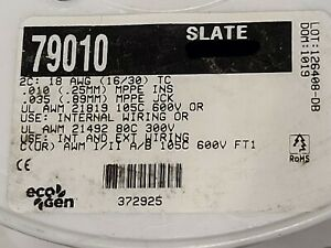 Alpha Wire 79010 18/2C EcoFlex EcoGen mPPE 600V TnCu Flexing Control Cable /10ft