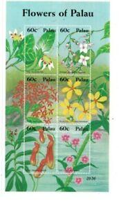 Palau - 2002 - Flowers - Sheet of Six - MNH