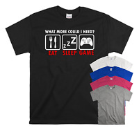 What More Could I Need EAT SLEEP GAME Kids Children's T-shirt Funny Tee Top Gift