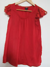 H&M Red Short Sleeve Top in Size 8