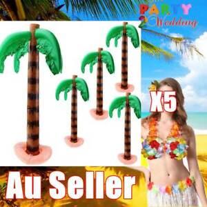 5X 87cm Inflatable Blow Up Palm Tree Hawaiian Luau Pool Beach Party Decoration