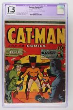 Catman Comics #12 - Continental 1942 - CGC 1.5 Restored
