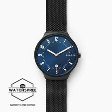 Skagen Men's Grenen Black Steel Mesh Watch SKW6461