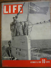 LIFE Oct 16 1939 U-boats, 1939 World Series, 1940 cars, English kids to country