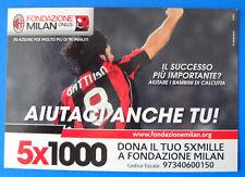 CARTOLINA PROMOCARD N.9955 - FONDAZIONE MILAN ONLUS - 5X1000 - GATTUSO