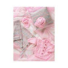 Knitting Pattern James C Brett JB004 Babies Cardigan Hat & Mittens