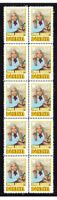 BONANZA TV STAR LORNE GREENE STRIP OF 10 MINT VIGNETTE STAMPS 2